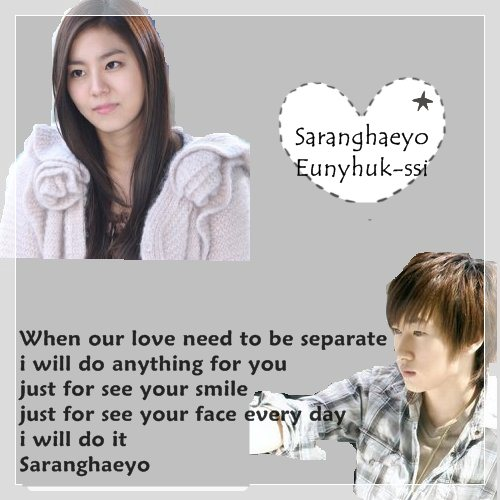Saranghaeyo Eunhyuk-ssi  Oneshot Uee And Eunhyuk