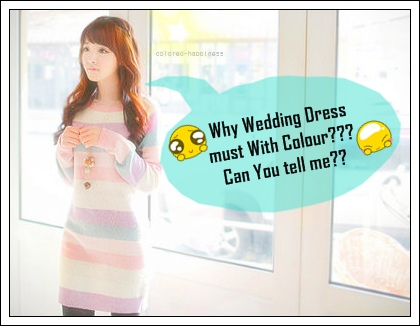 why wdiing dress must white